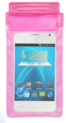 ACM Pouch for Spice Smart Flo Ivory 2 Mi-423(Pink, Waterproof, Silicon)