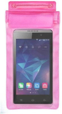 ACM Pouch for Reliance Jio LYF Flame 3(Pink, Waterproof, Silicon)
