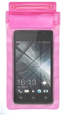 ACM Pouch for Lava Iris 349Plus(Pink, Waterproof, Silicon)