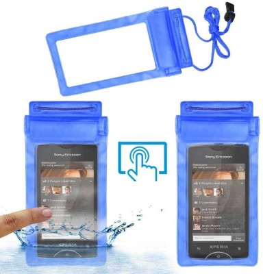 Geocell Pouch for Sony Ericsson Xperia Ray St18i(Blue, Waterproof, Flexible Case)