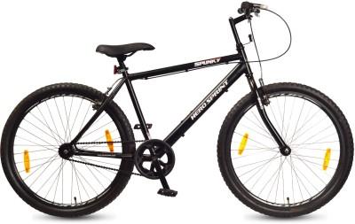 Hero Spunky 26 T Single Speed Hybrid Cycle/City Bike(Black)