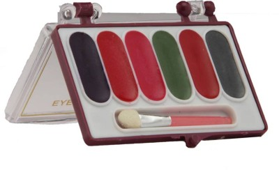 Amura Colour cosmetics Eye Shadow Dry 6 in 1 Platte 3.5 g(6 in 1)  available at flipkart for Rs.80