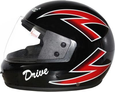 Rotomac Full Face ISI Mark Solid Plastic with Visor Motorbike Helmet(Black)  available at flipkart for Rs.560