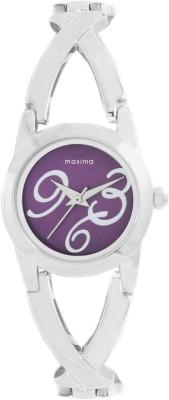 Maxima 28211BMLI Attivo Steel Analog Purple Dial Women's Watch (28211BMLI)