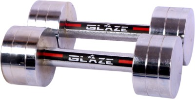 Glaze Neo premium chrome (5 kg x 2 =10kg) Fixed Weight Dumbbell(10 kg)