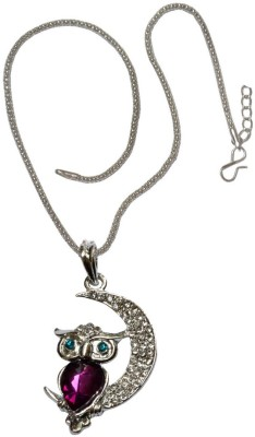 Sullery Big Sister Little Sister Owl Matching Couple Locket With 2 Chain His And Her Zinc, Alloy Pendant Set