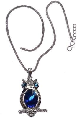 Men Style Crystal Owl Pendants Rhinestone Gem Cubic Zircon Diamond Long Chain Crystal, Alloy Pendant Set