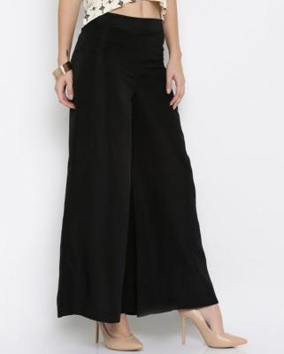 DARZI Flared Women Black Trousers