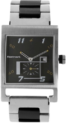 Image of Fastrack Black Dial Stainless Steel Watch - For Boys