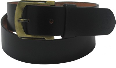 Hidelink Men & Women Formal Black Genuine Leather Belt