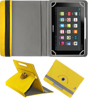 Fastway Book Cover for Karbonn Ta-Fone A37 HD(Yellow)