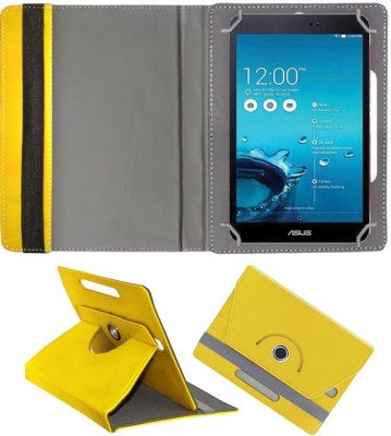 Fastway Book Cover for Asus Fonepad 8 FE380CG(Yellow, Cases with Holder)