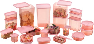 MasterCook  - 2000 ml, 1200 ml, 600 ml, 400 ml, 300 ml, 200 ml, 100 ml, 500 ml, 250 ml Plastic Grocery Container(Pack of 21, Pink)