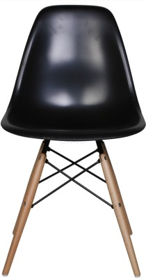 Red Oak Plastic Dining Chair(Set of 1, Finish Color - Black)