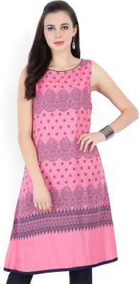 Aroma Lifestyle Casual Floral Print Women Kurti(Red)