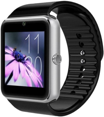 34071abbc SPORTZEE GT08 with SIM and 32 GB Memory Card Slot and Fitness Tracker  Silver Smartwatch Silver