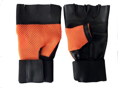 Cp Bigbasket Netted Wrist Support Gym & Fitness Gloves Gym & Fitness Gloves (Free Size, Orange)  available at flipkart for Rs.169