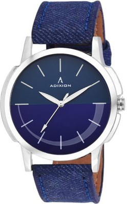 ADIXION 9520SLP4 Youth Stainless Steel watch with Genuine Leather Denim Strep Analog Watch  - For Men