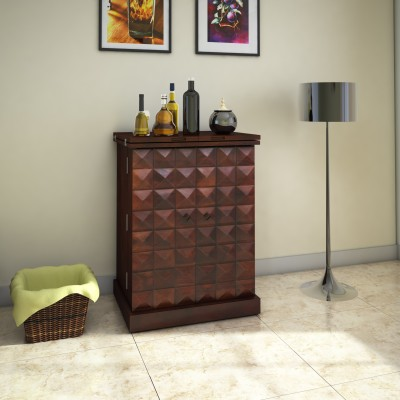 The Attic Sheesham Wood Solid Wood Bar Cabinet(Finish Color - Teak)