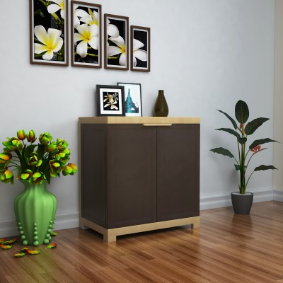 Nilkamal Freedom Mini Small (FMS) Plastic Free Standing Cabinet(Finish Color - Weathered Brown & Biscuit)