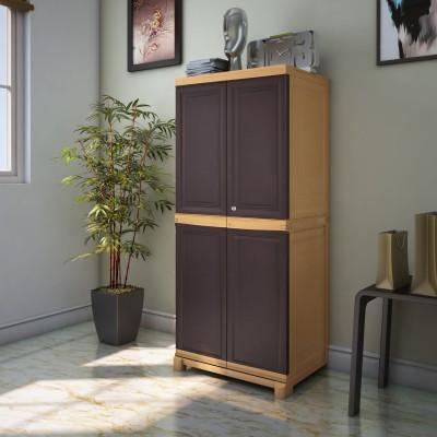 Nilkamal Freedom Mini Medium Plastic Free Standing Cabinet(Finish Color - Brown)