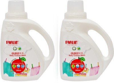 Farlin Eco-Friendly Baby Liquid Laundry-Clothing Detergent 1000ml bottle (Combo Pack of 2)(2.000 kg)