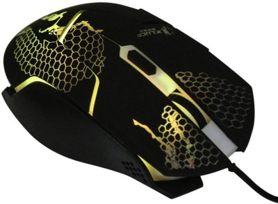 DARK EDGE XM505 Wired Optical  Gaming Mouse(USB, Black) at flipkart