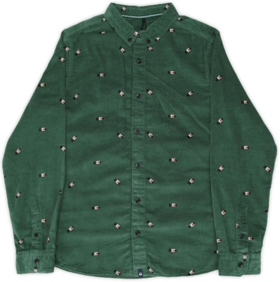 United Colors of Benetton Boys Printed Casual Green Shirt at flipkart
