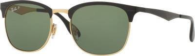 Ray-Ban Retro Square Sunglasses(Green) at flipkart