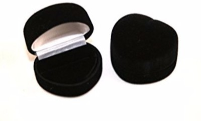 Sapro Black Heart Velvet Wedding Bearer Jewelry Display Gift Storage Box Case Holder Multi Purpose Vanity Box Vanity Box(Black)  available at flipkart for Rs.101