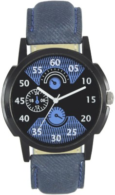 piu collection PC Leather Stylish PC Blue Stylish Watch  - For Men   Watches  (piu collection)