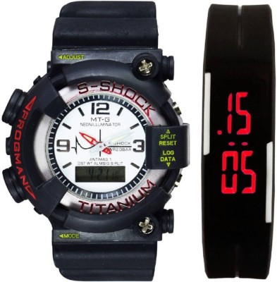 Good Friends s shock big white dail and rubber led Watch  - For Boys & Girls