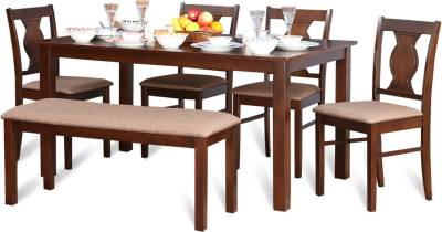HomeTown Artois Solid Wood 6 Seater Dining Set