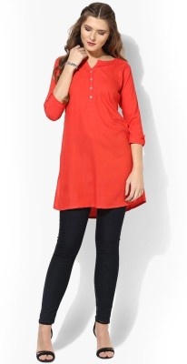 Krazzy Collection Casual Solid, Self Design Women