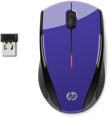 HP X3000 Wireless Optical Mouse(USB, Purple / Black)