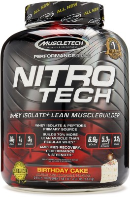 Muscletech Nitrotech Performance Series Birthday Cake Whey Protein181 Kg Vanilla
