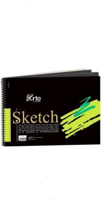 CAMPAP Arto Wire o A4 Black Sketch book Sketch Pad Black, 20 Sheets