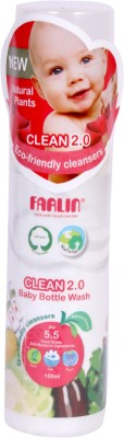 Farlin Eco-Friendly Liquid Cleanser Spray 2.0 for Baby Bottles, Accessories, Fruits and Vegetable (100ml)(White)