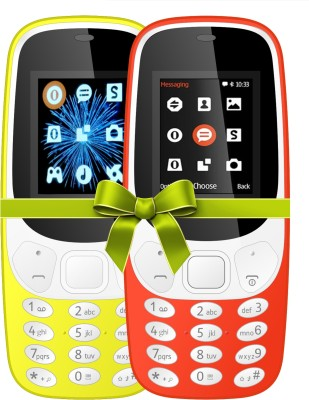 I Kall K3310 Combo Of Two Mobile(Yellow, Red)