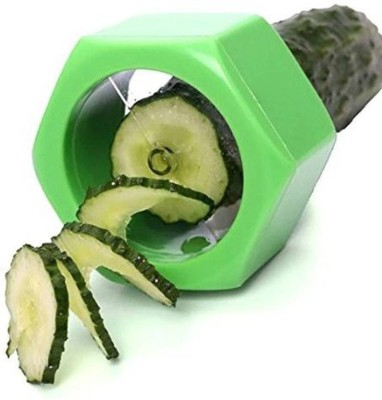 ALPYOG Cucumber Slicer Vegetable Fruit Salad Cutter Chopper(Green)  available at flipkart for Rs.179