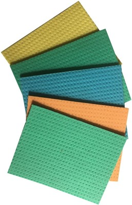 brite guard Brite Guard Cellulose Cleaning Sponge mop 16x20 cms (5 Pieces) Scrub Sponge(Multicolor, Pack of 5)  available at flipkart for Rs.155