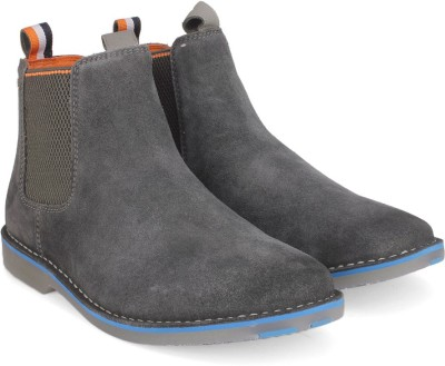 Superdry RALLIE CHELSEA Boots For Men(Grey)