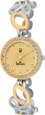 Britton BR-LR045-GLD-SLV  Analog Watch For Women