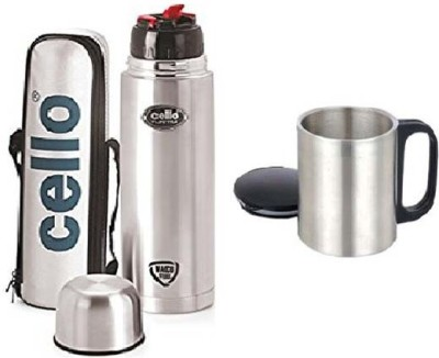 60080edb4 Cello Lifestyle 500 ml Flask Pack of 1 Silver Best Price in India ...