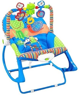 Taaza Garam UK Kids High Quality Imported Newborn-to-Toddler Portable Baby Rocker-Gift toy (Blue)(Blue)