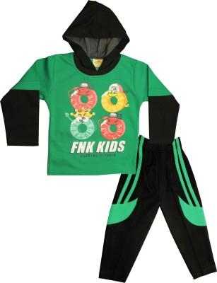 Kid's Care Baby Boys & Baby Girls Casual T-shirt Pyjama(Green)