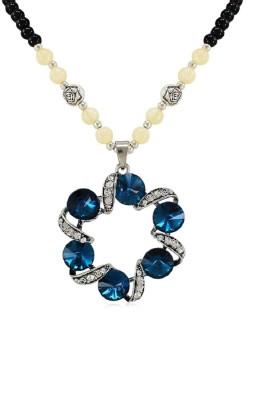 Fabfashion Fancy Round Shape Cubic Zirconia, Sapphire Alloy Pendant at flipkart