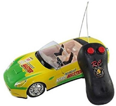 Kanchan Toys Super Speed Remote Control Car(Yellow)  available at flipkart for Rs.282