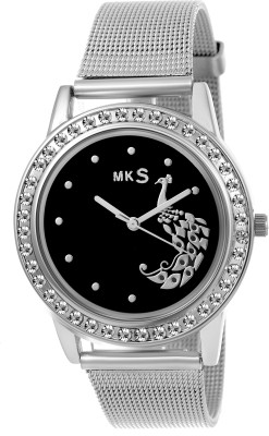 MKS hot peafowl look Black Dial Analog Watch   For Girls Analog Watch   For Girls MKS Wrist Watches