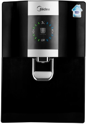 Carrier Midea MWPRU080AL7 Antibacterial Replaceable Tank 8 L RO + UV Water Purifier(Black)